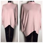 Pullover Poncho Oversize Rosa