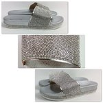 Pantolette Strass Silber
