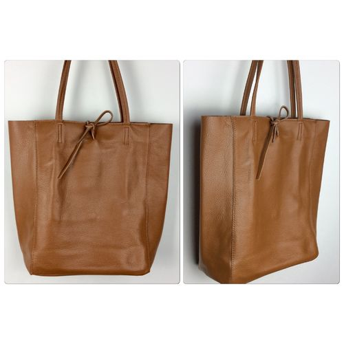 Shopper Leder Cognac