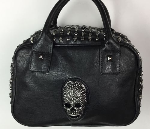 Skelett Handtasche Black